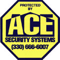 ACE Security Systems Sign